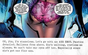 The male gaze in comics